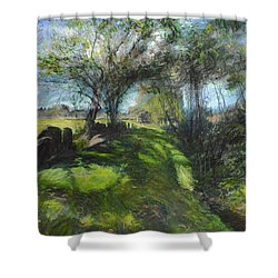 By The Dee Shower Curtain by Harry Robertson