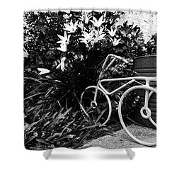 By The Flower Garden. Shower Curtain