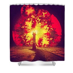 By The Light Of The Fiery Trinity Shower Curtain