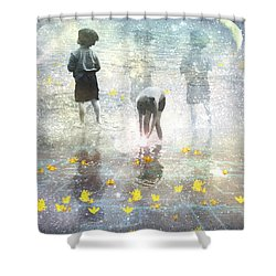 By The Light Of The Magical Moon Shower Curtain