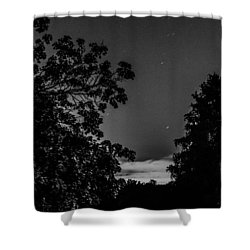 By The Light Of The Moon Shower Curtain by Bruce Pritchett