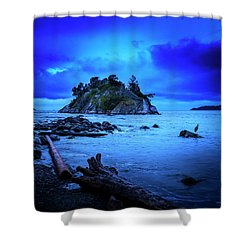 Shower Curtain featuring the photograph By The Light Of The Moon by John Poon