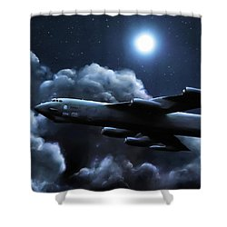 Shower Curtain featuring the painting By The Light Of The Silvery Moon by Dave Luebbert