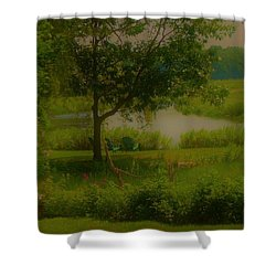 By The Little River Shower Curtain