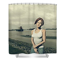 by the muddy Mississippi Shower Curtain