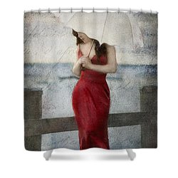 By The Northport Sea Shower Curtain