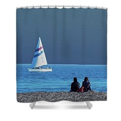 By The Sea Shower Curtain by B Wayne Mullins