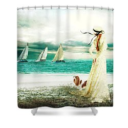 By The Sea Shower Curtain by Shanina Conway