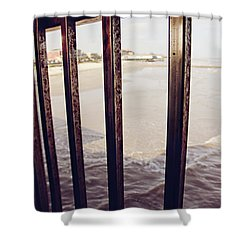 Shower Curtain featuring the photograph By The Sea by Trish Mistric
