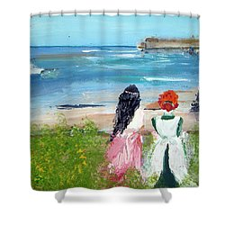 By The Shores By Colleen Ranney Shower Curtain