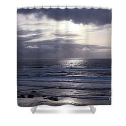 By The Silvery Light Shower Curtain by Sheila Ping
