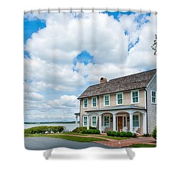 By The Water In Oxford Md Shower Curtain