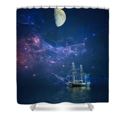 By Way Of The Moon And Stars Shower Curtain