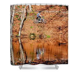Shower Curtain featuring the photograph Bycyle by Okan YILMAZ