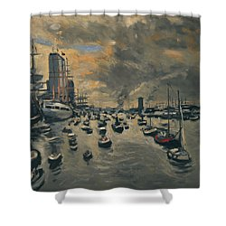 Bye Bye Sail Amsterdam Shower Curtain