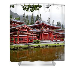 Byodo-in Temple Oahu Shower Curtain