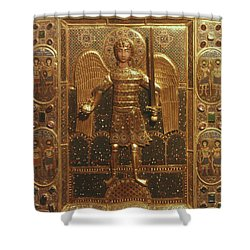 Byzantine Art: St. Michael Shower Curtain by Granger