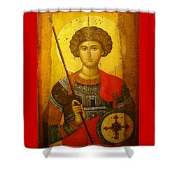 Byzantine Knight Shower Curtain by Ellen Henneke