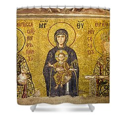 Byzantine Mosaic In Hagia Sophia Shower Curtain