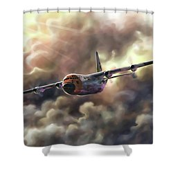 C-130 Hercules Shower Curtain