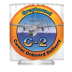 C-2 Greyhound Shower Curtain
