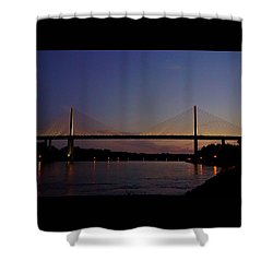 C And D Canal Bridge Shower Curtain