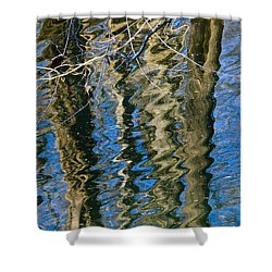 C And O Abstract Shower Curtain