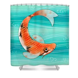 C Is For Cal The Curious Carp Shower Curtain