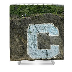 C Rock Of Columbia University Shower Curtain
