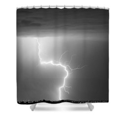 C2g Lightning Strike In Black And White Shower Curtain by James BO  Insogna