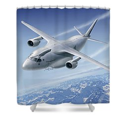 C390 Shower Curtain by Daniel Uhr