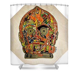 C3po Star Wars Afrofuturist Collection Shower Curtain