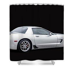 C6 Corvette Shower Curtain