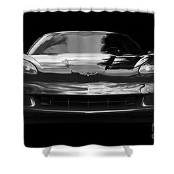 C6 Corvette Shower Curtain