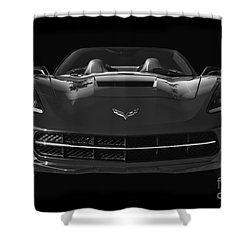 C7 Stingray Corvette Shower Curtain