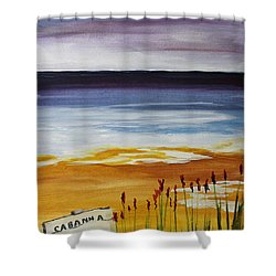 Cabana Rental Shower Curtain by Jack G  Brauer