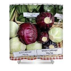 Cabbages In The Market Shower Curtain