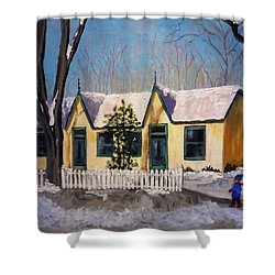Cabbagetown Christmas Shower Curtain