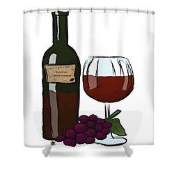 Cabernet Sauvignon Shower Curtain