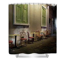 Cabildo Alley Tables Shower Curtain