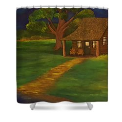 Cabin By The Water Shower Curtain by Christy Saunders Church