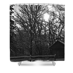 Cabin By The Woods Shower Curtain