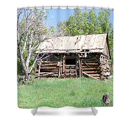 Cabin In The Mountains Shower Curtain