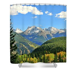 Cabin In The San Juans Shower Curtain by Scott Mahon