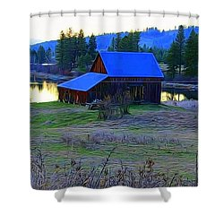Cabin In The Valley Shower Curtain