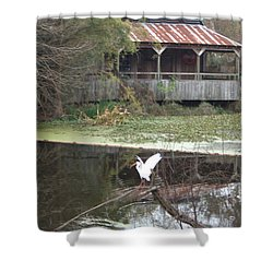 Cabin On The Bayou Shower Curtain