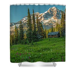 Cabin On The Hill Shower Curtain