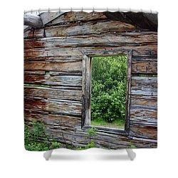 Cabin Window Shower Curtain