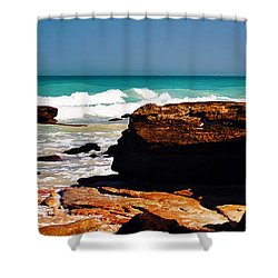 Cable Beach Broome Shower Curtain by Phill Petrovic