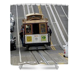 Shower Curtain featuring the photograph Cable Car by Steven Spak